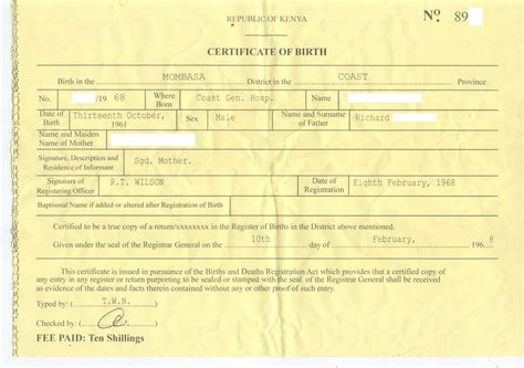 dr conspiracy s first fake kenyan birth certificate