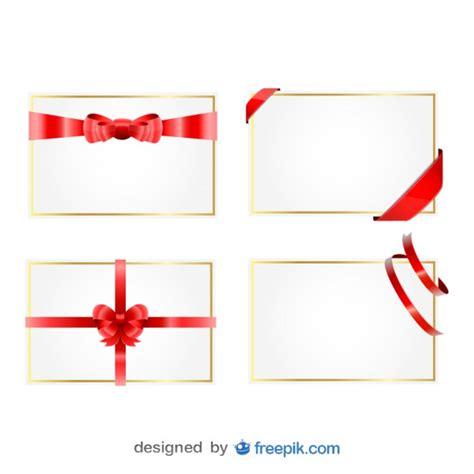 Ribbon Gift Cards - christmas ribbon gift cards vector free download