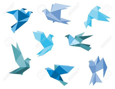 Origami Flying - origami colorful origami birds flying sky background