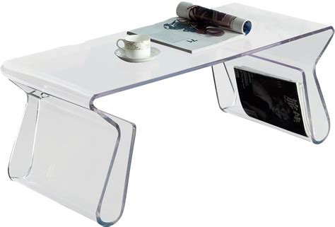 Acrylic Coffee Table With Magazine Rack by Acrylic Rectangle Coffee Table With Magazine Holder In