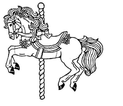 pony island coloring pages free coloring pages of carousel horses coloring page