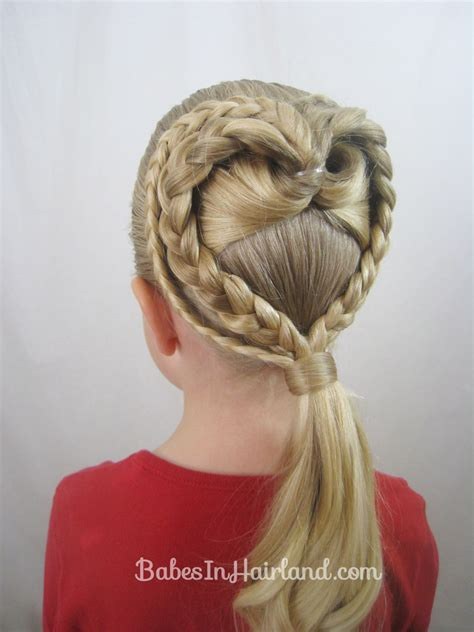 2 Braided Hearts Video   Valentine's Day Hairstyle   Babes