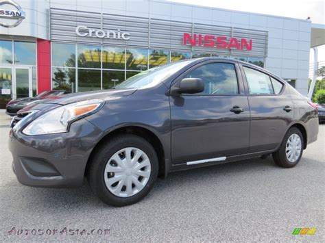 grey nissan versa 2015 nissan versa 1 6 s plus sedan in amethyst gray