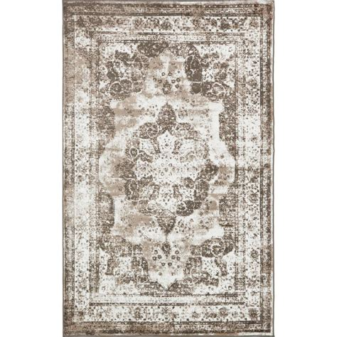 Brown And Beige Area Rugs Unique Loom Monaco Light Brown And Beige 5 Ft X 8 Ft Area Rug 3134098 The Home Depot