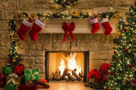 fireplace knit christmas stockings images pictures
