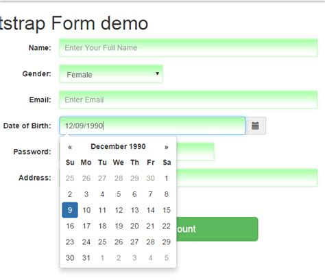 bootstrap templates for datepicker bootstrap datepicker set up guide with 8 online demos and