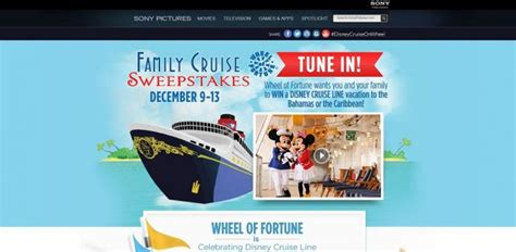 Wheeloffortune Com Sweepstakes - wheel of fortune family cruise sweepstakes