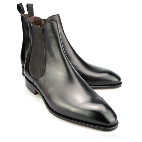 chelsea boots in box calf black carmina