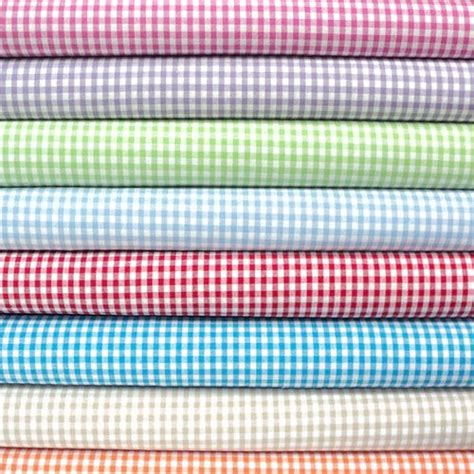 gingham material for curtains full selection of gingham fabric fabricland co uk