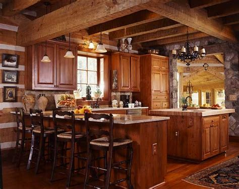 log home kitchen ideas an efficiently designed contemporary kitchen that fits well into a log cabin style home it has