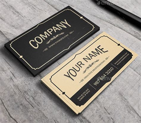 Vintage Business Cards Templates Free by 25 Cool Psd Retro Vintage Business Card Templates