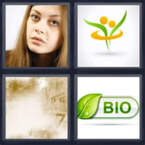 4 imagenes y una palabras 4 fotos 1 palabra bio mujer logo imagen borrosa con