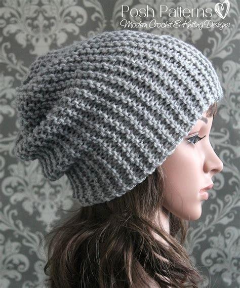 easy knit hat pattern needles easy slouchy hat knitting pattern