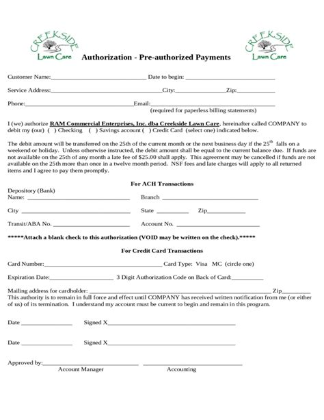 Creekside Lawn Care Service Agreement Free Download Lawn Care Service Contract Template