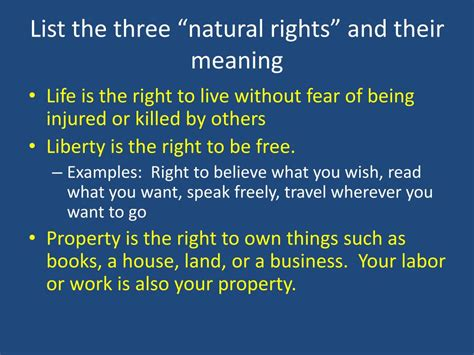right meaning ppt lesson 2 why did the founders believe that people