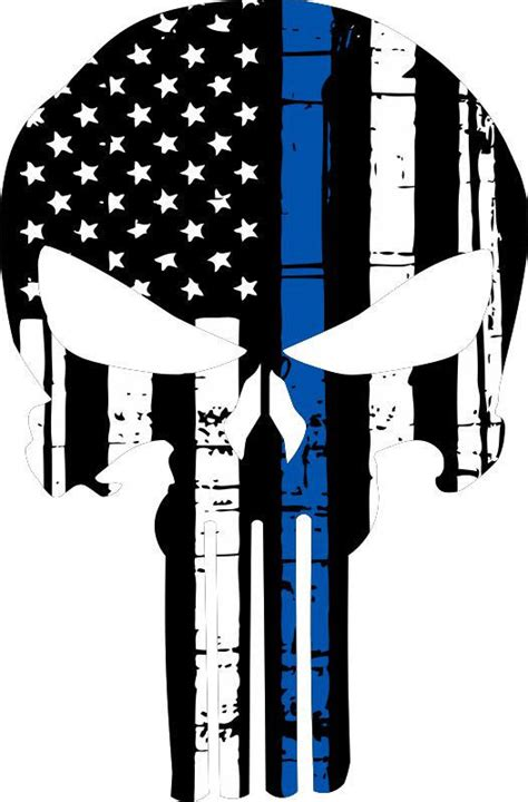 south carolina tattoo laws punisher skull american flag blue line decal