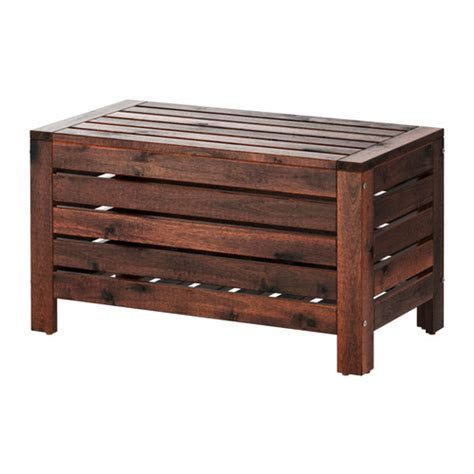 outdoor bench with storage 196 pplar 214 storage bench outdoor ikea