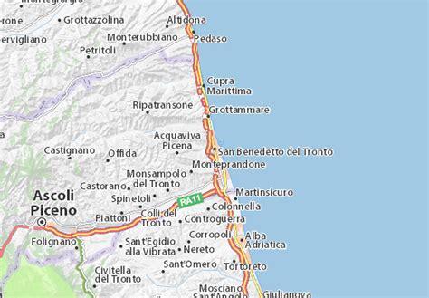 adriatico san benedetto tronto mappa san benedetto tronto cartina san benedetto