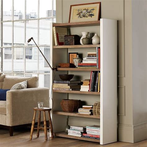 new distressed wood shelving unit modern display and