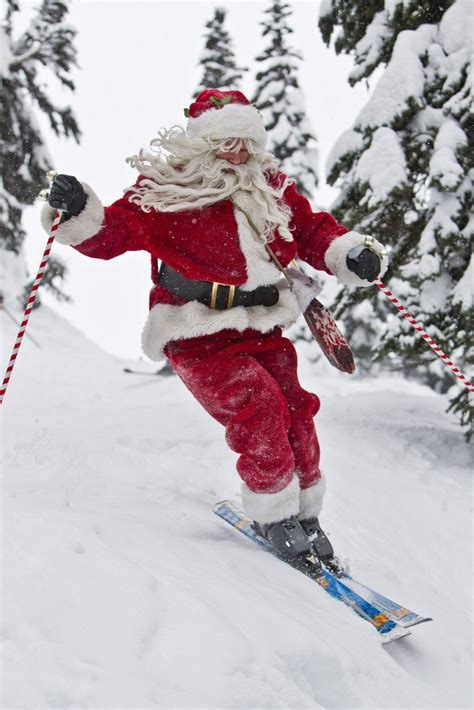 skiing santa pictures   images  facebook tumblr pinterest  twitter