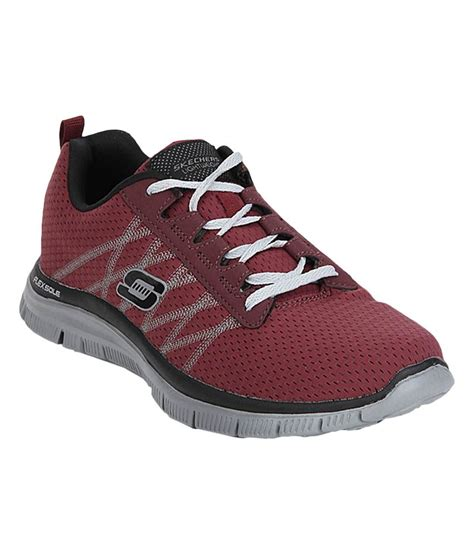 maroon athletic shoes skechers flex advantage maroon running shoes price in