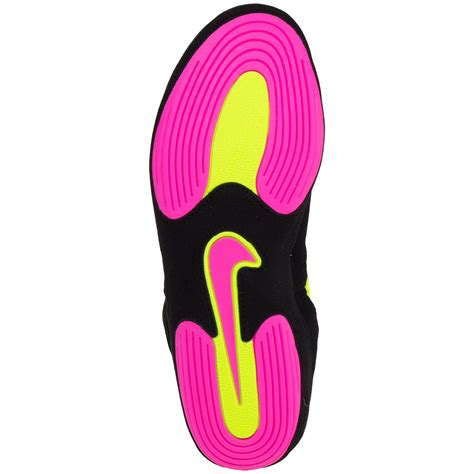 black pink yellow nike inflict 3 unlimited shoes wrestlingmart free shipping