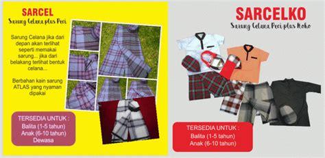 Sarcel Sarung Celana Anak Instan rumah produksi salama produsen sarung instan anak baju