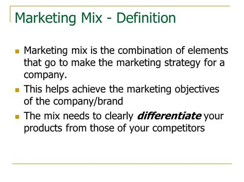 theme marketing definition marketing mix ppt video online download