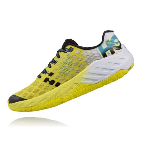 running racing shoes the hoka clayton in citrus and white for at