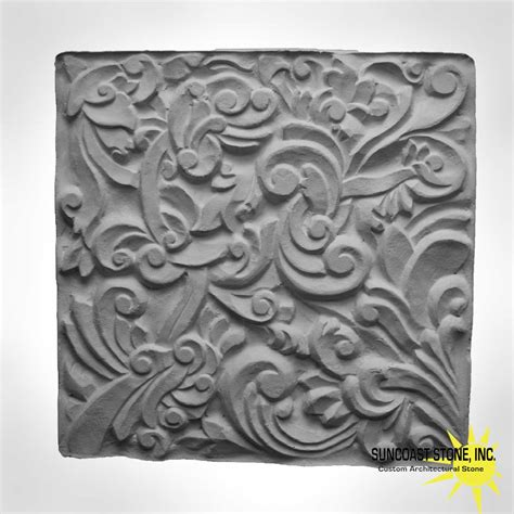 rs carved stone relief tile   suncoast stone