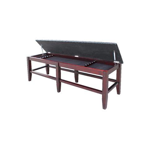 spectator bench carmelli unity antique walnut spectator bench