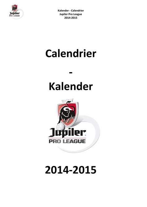 Pro B Calendrier 2014 Calendrier Pro League 2014 2015 By S A Ipm Issuu