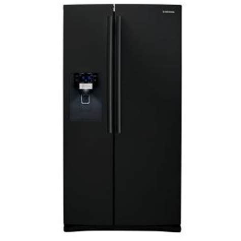 samsung 25 5 cu ft side by side refrigerator in black