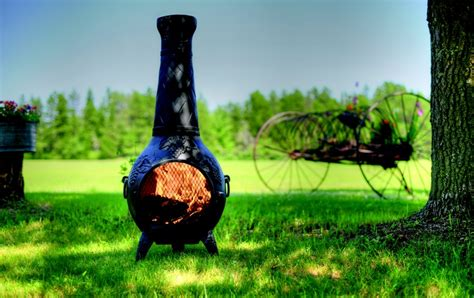 1000  images about The Blue Rooster Grape Chiminea on