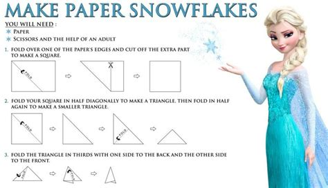 Make A Paper Snowflake - disney s frozen free printable how to make a paper