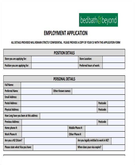 49 Job Application Form Templates Free Premium Templates Basic Application Template