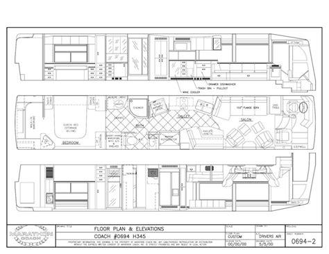 prevost floor plans 2001 prevost marathon h3 45non slide 0694