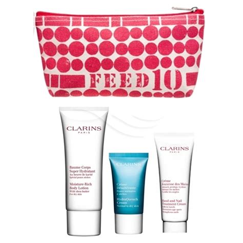 feed your moisturizing essentials set clarins giftset