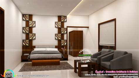 interior designs  master bedroom kerala home design