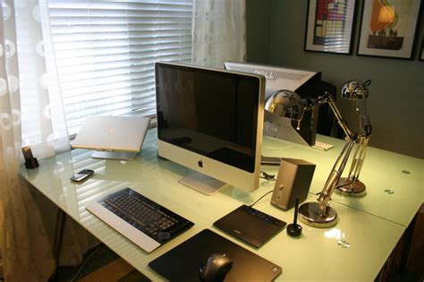his and hers desk his hers and the media centre a compact home office
