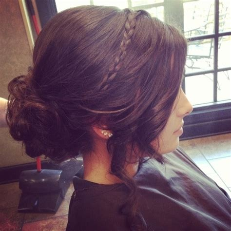 formal hairstyles messy bun with braid prom hair do messy bun prom ideas pinterest