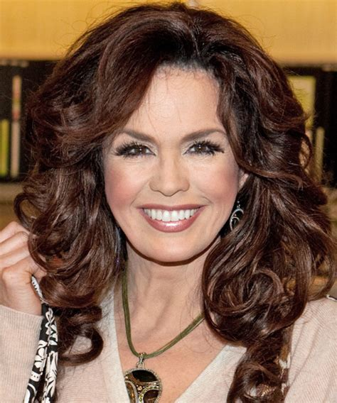 how is marie osmonds hair cut marie osmond long wavy formal hairstyle