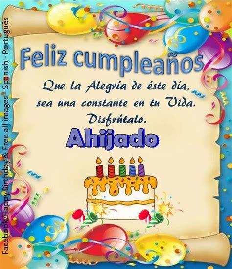 Imagenes De Happy Birthday Para Un Ahijado | ahijado iiiii fel 237 z cumplea 241 os iiiii feliz cumpleanos