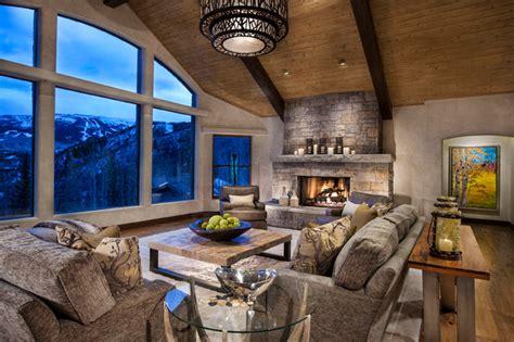 horse ranch contemporary living room denver