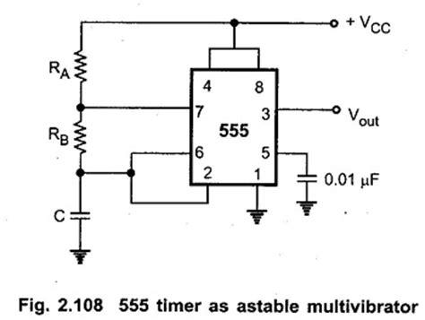 555 timer resistor calculator monostable astable multivibrator using ic 555 i operation i applications