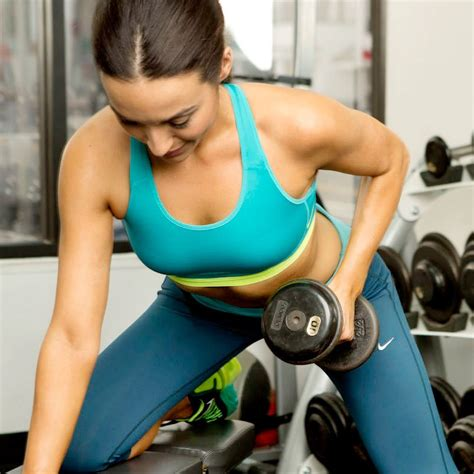 best dumbbell arm exercises popsugar fitness