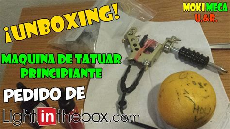 tattoo kit light in the box unboxing kit de tatuaje principiante light in the box