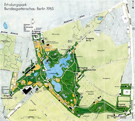 Britzer Garten Maps green space state of berlin