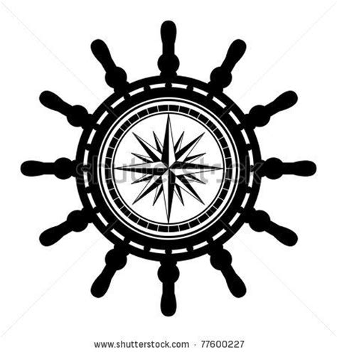 boat steering wheel and helm ship helm tattoo w compass points tatto pinterest