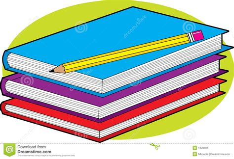 pictures of books and pencils books and pencil royalty free stock photo image 1428925